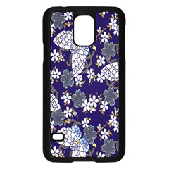 Butterfly Iron Chains Blue Purple Animals White Fly Floral Flower Samsung Galaxy S5 Case (black) by Alisyart