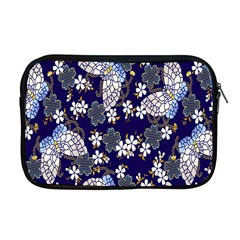 Butterfly Iron Chains Blue Purple Animals White Fly Floral Flower Apple Macbook Pro 17  Zipper Case by Alisyart