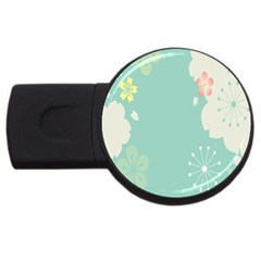 Flower Blue Pink Yellow Usb Flash Drive Round (4 Gb) by Alisyart