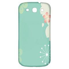 Flower Blue Pink Yellow Samsung Galaxy S3 S Iii Classic Hardshell Back Case by Alisyart