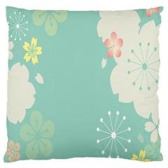 Flower Blue Pink Yellow Standard Flano Cushion Case (two Sides) by Alisyart
