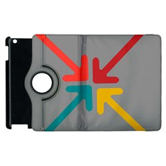 Arrows Center Inside Middle Apple Ipad 2 Flip 360 Case by Amaryn4rt
