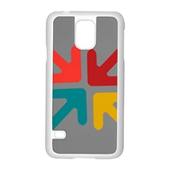 Arrows Center Inside Middle Samsung Galaxy S5 Case (white) by Amaryn4rt