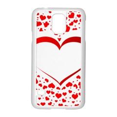 Love Red Hearth Samsung Galaxy S5 Case (white)