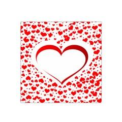 Love Red Hearth Satin Bandana Scarf