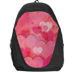 Hearts Pink Background Backpack Bag by Amaryn4rt