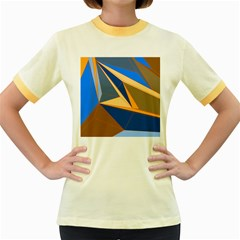 Abstract Background Pattern Women s Fitted Ringer T Shirts