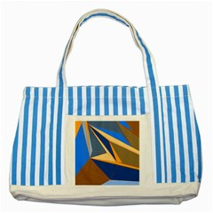 Abstract Background Pattern Striped Blue Tote Bag