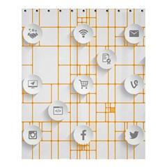 Icon Media Social Network Shower Curtain 60  X 72  (medium)  by Amaryn4rt