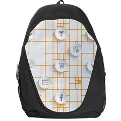 Icon Media Social Network Backpack Bag by Amaryn4rt