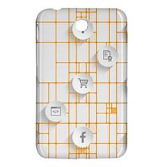 Icon Media Social Network Samsung Galaxy Tab 3 (7 ) P3200 Hardshell Case  by Amaryn4rt