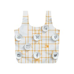 Icon Media Social Network Full Print Recycle Bags (s)