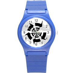 Arrows Top Below Circuit Parts Round Plastic Sport Watch (s)