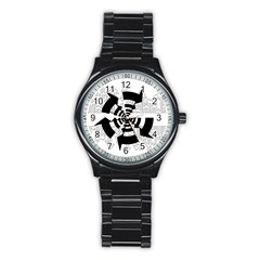 Arrows Top Below Circuit Parts Stainless Steel Round Watch by Amaryn4rt