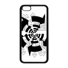 Arrows Top Below Circuit Parts Apple Iphone 5c Seamless Case (black) by Amaryn4rt