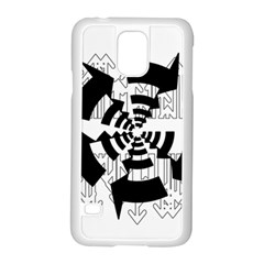 Arrows Top Below Circuit Parts Samsung Galaxy S5 Case (white) by Amaryn4rt