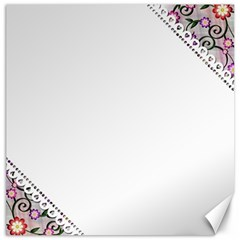 Floral Ornament Baby Girl Design Canvas 20  X 20