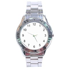 Floral Ornament Baby Girl Design Stainless Steel Analogue Watch by Amaryn4rt