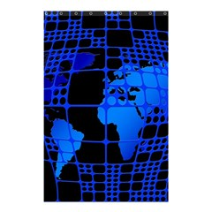 Network Networking Europe Asia Shower Curtain 48  X 72  (small)  by Amaryn4rt