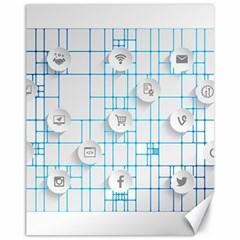 Icon Media Social Network Canvas 11  X 14   by Amaryn4rt