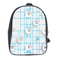 Icon Media Social Network School Bags (xl)  by Amaryn4rt