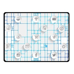 Icon Media Social Network Double Sided Fleece Blanket (small)  by Amaryn4rt