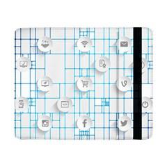 Icon Media Social Network Samsung Galaxy Tab Pro 8 4  Flip Case by Amaryn4rt