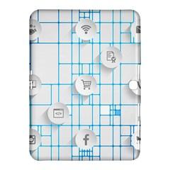 Icon Media Social Network Samsung Galaxy Tab 4 (10 1 ) Hardshell Case  by Amaryn4rt