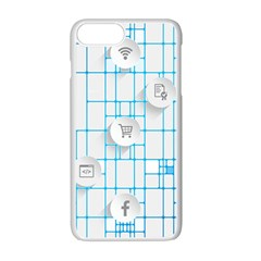 Icon Media Social Network Apple Iphone 7 Plus White Seamless Case by Amaryn4rt