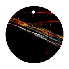 Highway Night Lighthouse Car Fast Ornament (round) by Amaryn4rt