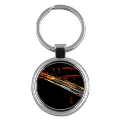 Highway Night Lighthouse Car Fast Key Chains (round)  by Amaryn4rt