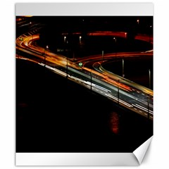 Highway Night Lighthouse Car Fast Canvas 20  X 24   by Amaryn4rt