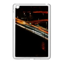 Highway Night Lighthouse Car Fast Apple Ipad Mini Case (white)