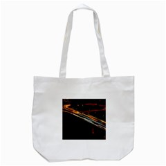 Highway Night Lighthouse Car Fast Tote Bag (White)
