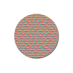 Background Abstract Colorful Magnet 3  (round) by Amaryn4rt