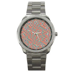 Background Abstract Colorful Sport Metal Watch by Amaryn4rt