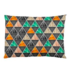 Abstract Geometric Triangle Shape Pillow Case by Amaryn4rt
