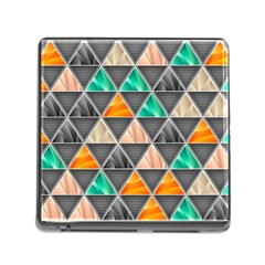 Abstract Geometric Triangle Shape Memory Card Reader (square) by Amaryn4rt