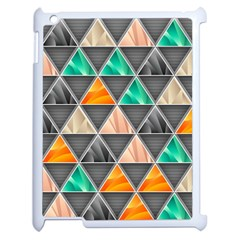 Abstract Geometric Triangle Shape Apple Ipad 2 Case (white) by Amaryn4rt
