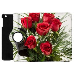Red Roses Roses Red Flower Love Apple Ipad Mini Flip 360 Case by Amaryn4rt