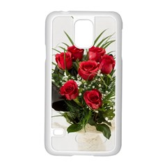 Red Roses Roses Red Flower Love Samsung Galaxy S5 Case (white) by Amaryn4rt