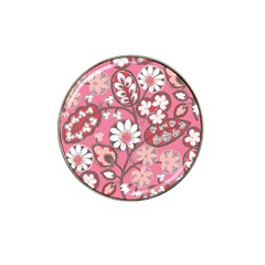 Flower Floral Red Blush Pink Hat Clip Ball Marker by Alisyart