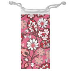 Flower Floral Red Blush Pink Jewelry Bag by Alisyart