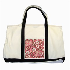 Flower Floral Red Blush Pink Two Tone Tote Bag by Alisyart