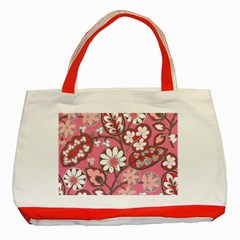 Flower Floral Red Blush Pink Classic Tote Bag (red) by Alisyart