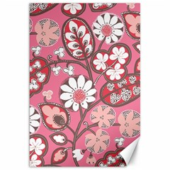 Flower Floral Red Blush Pink Canvas 20  X 30   by Alisyart