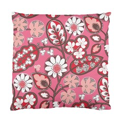 Flower Floral Red Blush Pink Standard Cushion Case (two Sides) by Alisyart