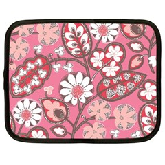 Flower Floral Red Blush Pink Netbook Case (xxl)  by Alisyart
