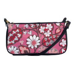 Flower Floral Red Blush Pink Shoulder Clutch Bags by Alisyart