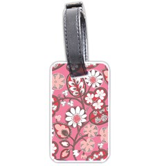 Flower Floral Red Blush Pink Luggage Tags (one Side)  by Alisyart